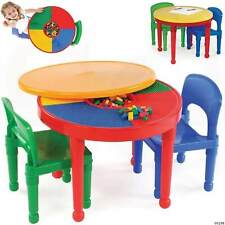 Table + Chair Set 2-In-1 LEGO Activity Child Ultimate Playtime Space Tot Tutors