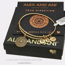 Authentic Alex and Ani True Direction Rafaelian Gold Expandable Charm Bangle