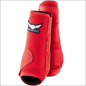 Medium Cactus Ropes Relentless All Around Horse Leg Sport Boot 4 Pack Red U-MC57