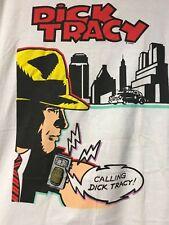 T-SHIRT DICK TRACY COMIC BOOK SHIRT CALLING DICK WHITE XL VILLAGE MEWS BRAND