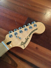 """2015 Fender Stratocaster Deluxe Roadhouse Strat Neck Maple Tuners Plate 9.5"""" Rad"""