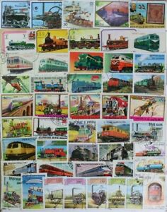 TRAINS, Locomotives huge collection made up of 500 different stamps (lot#DP)