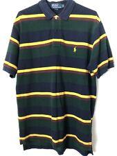 Polo by Ralph Lauren Men's M Short Sleeve Striped Rugby Golf Shirt