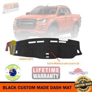 BLACK DASH MAT ISUZU D-MAX + Centre Lid 7/2020-2021 LS-M LS-U MY21 DM1589 DMAX