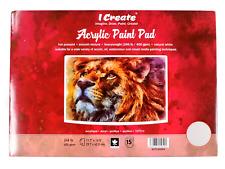 I Create A3 Acrylic Paint Pad 400 GSM, 15 Sheets    Acrylic, Oil & Mixed Media