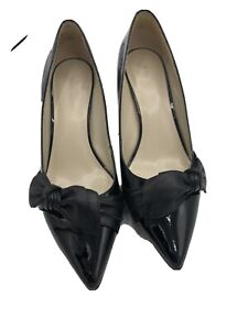 Nine West Pointed Toe Heels With Bow Accents Size 8 1/2