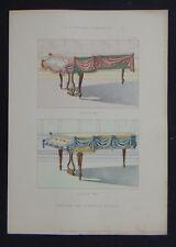 LA TENTURE FRANÇAISE 1905 - Piano à queue Louis XV XVI décoration tapisserie 79