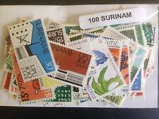 300 Different Suriname Stamp Collection
