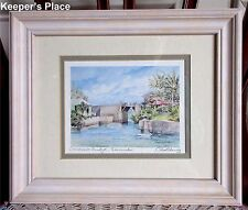 Carol Holding Print SOMERSET BRIDGE Bermuda Signed Framed Matted Glass Cover