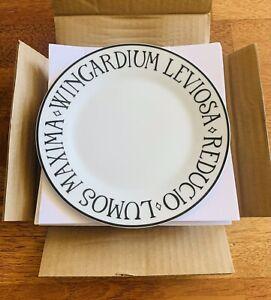 Pottery Barn HARRY POTTER Incantation Plates Set Of 4
