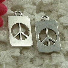 free ship 210 pieces Antique silver peace symbol charms 20x12mm #2772