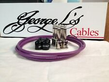 George L's 155 Guitar Pedal Cable Kit .155 Purple / Black / Nickel - 6/6/6