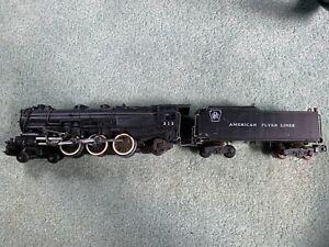 American Flyer #313 Pennsylvania Pacific engine loco tender knuckle runs smokes