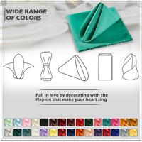 Polyester Plain Fabric Napkins Party Wedding Table Soft Serviettes Decor 1/10/20