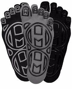 "Mato & Hash  ""Barefoot Feel"" Yoga & Pilates 5 Toe Socks W/ Infinity Grip 3 Pair"