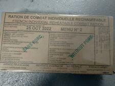 #2022# Menu 2 , French MRE IRP Military Food RCIR 24H MENU Combat Box US France
