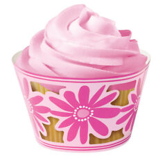 Wilton Fairy Cake Cupcake Decorative Wraps Brighten Up Plain Cases Pink Flowers