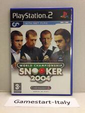 WORLD CHAMP SNOOKER 2004 - SONY PS2 - VIDEOGIOCO USATO PERFETTAMENTE FUNZIONANTE