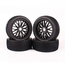 1:8 Off-Road Buggy Car 4Pcs RC Rubber Tires&Wheel Rim 17mm Hex For Traxxas