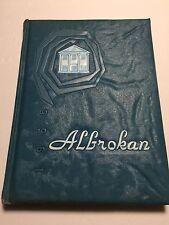 1956 A L Brown High School Yearbook Annual  Kannapolis North Carolina Albrokan