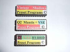 3 x ALESIS QuadraVerb 2 Presets Eproms VSE & Mantis + VSE + Hybride Copyright.