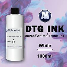 DTG Ink White 1000ml Dupont Artistri Ink, Best Direct to Garment Printer Ink