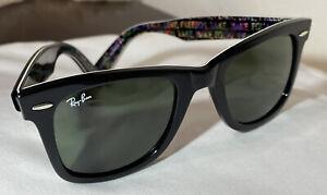 Rayban Wayfarer special series #5 sunglasses peace Love Equality Rainbow
