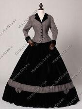 Victorian Civil War Tartan Suit Day Dress Theater Halloween Costume N 122 XXL