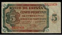 Billete de España 5 pesetas 1938 Burgos F0225839
