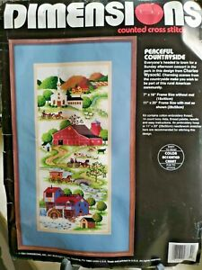 Vintage Dimensions Peaceful Countayside #3739 Counted Cross Stitch 1993