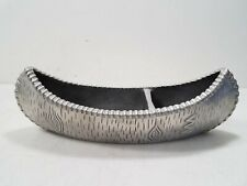 "Mariposa 13.5"" Brilliante Metal Canoe Serving Dish"