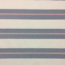 "BALLARD DESIGNS BAL HARBOUR NAVY BLUE SUNBRELLA STRIPE OUTDOOR FABRIC BTY 54""W"