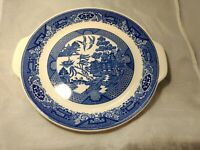 "Royal China WILLOW WARE RARE Handle platter 10"" Blue Willow"