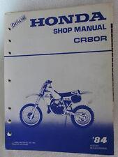 Honda CR80R Motorcycle Shop Service Manual CR 80 CR80 R