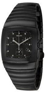 New Rado Sintra Black Dial Chronograph Black Ceramic Men's Watch R13477152/