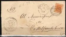 Italy 1889 YV 24 on folded letter Treviso-Castelfranco