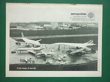 11/1977 PUB AEROSPATIALE AEROSPACE GROUP AIRBUS CONCORDE CARAVELLE FOUGA AD