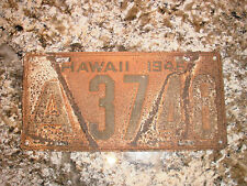 1946 HAWAII LICENSE PLATE A 3748