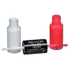 4 x NEW Revlon Nail Art Neon Nail Enamel Duo - 140 Pink Glow