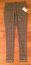 NWT KAVU Ladies Leggings Pants WINTER SNOWFLAKE Black Womens M