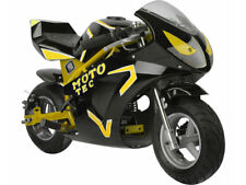 MotoTec Gas Pocket Bike GT 49cc 2-Stroke EPA Kid Motorcycle Yellow