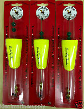 Cajun Thunder Fishing Float Floats Weighted Lot of 3 Yellow Popping Corks. NEW