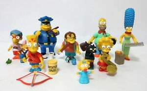 The Simpsons World of Springfield Pin Pal Interactive Figures Set 8x Characters