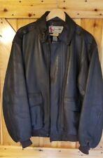 L.L. Bean Leather Flying Tiger Thinsulate Jacket Size Medium Mens Goatskin