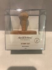 NWT Rubber Address Stamp Set Hearth and Hand by Magnolia