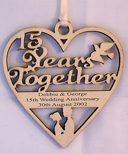 PERSONALISED 15TH YEAR ANNIVERSARY PLAQUE - ENGRAVED WITH YOUR OWN WORDING