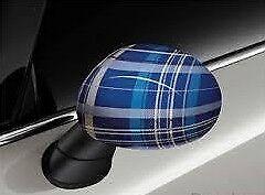 Mirror Cap Cover Set Speedwell Blue Genuine Mini F55 F56 Cooper Ray 51142355382