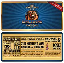 50 Zirkus Ticket Einladungen zur Hochzeit Einladungskarte Eintrittskarte