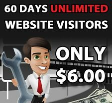 Unlimited Website Traffic for 60 days $6