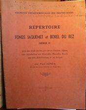 Répertoire des papiers JAQUEMET, Hautes-Alpes, Charles Roman d' Amat